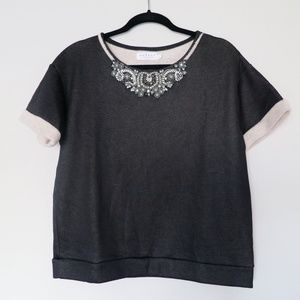 Velvet by Graham & Spencer Rhinestone Top